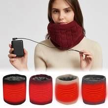 Écharpe d'hiver avec chauffage électrique pour homme et femme,accessoire avec enveloppement tricoté au col chauffant pour garder le cou plus au chaud,