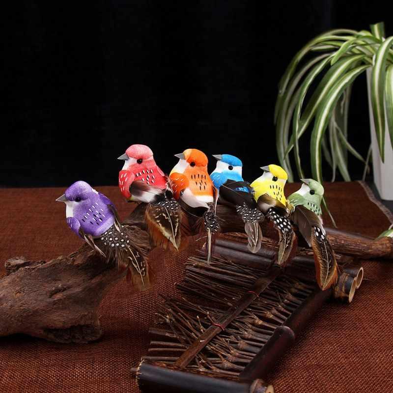 12 Pcs Buatan Busa Bulu Simulasi Burung Diy Simulasi Pesta Kerajinan Ornamen Alat Peraga Home Halaman Taman Dekorasi Pernikahan