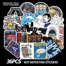 36pcs Star Trek Space Cartoon Graffiti Sticker Travel Box Skateboard Guitar Car Waterproof Wallpaper Toys Stickers