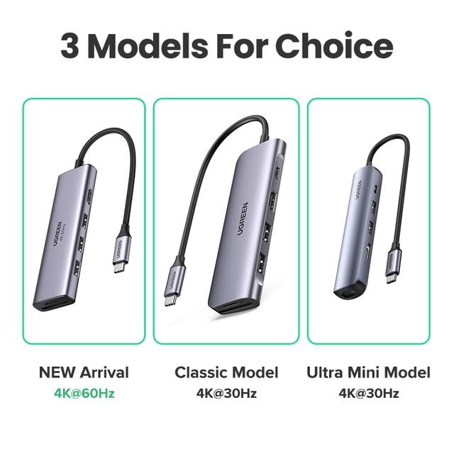 UGREEN USB C HUB Type C to Multi USB 3.0 HUB HDMI Adapter Dock for MacBook Pro Huawei Mate 30 USB-C 3.1 Splitter Port Type C HUB 6