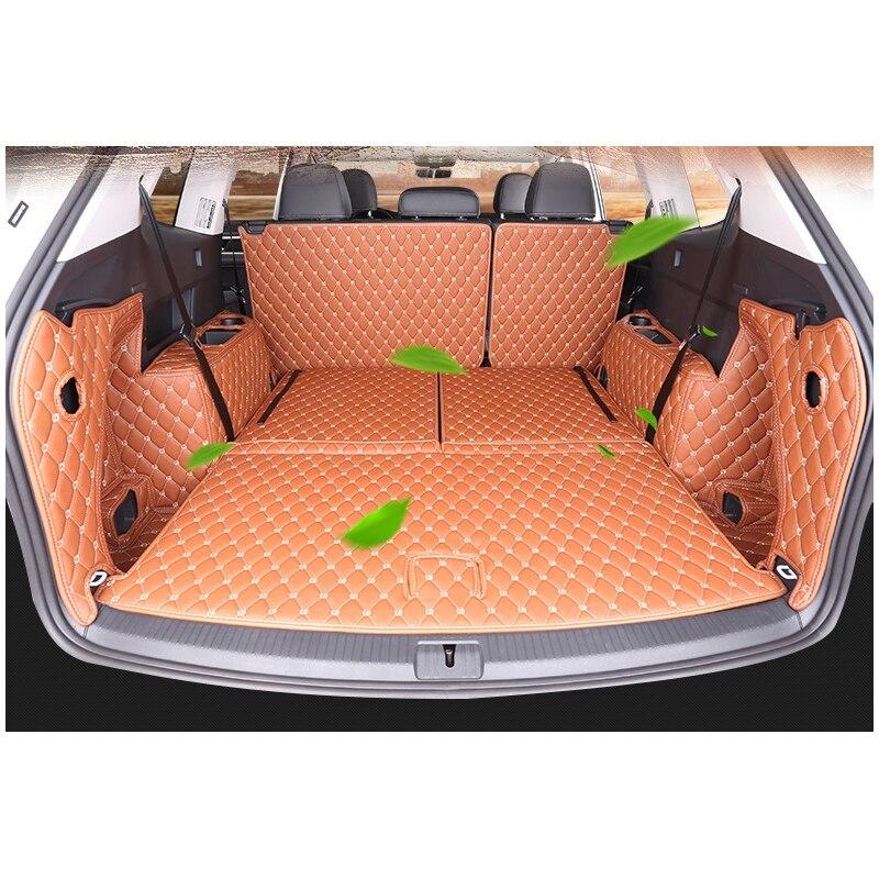 Lsrtw2017 tapis de coffre de voiture en cuir pour volkswagen Atlas 2017 2018 2019 2020 Teramont accessoire couvre style intérieur