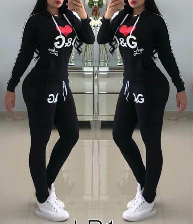 Комплект из 2 предметов, топ и штаны, женский спортивный костюм, толстовки на осень и зиму, толстовка с капюшоном, с буквенным принтом, штаны