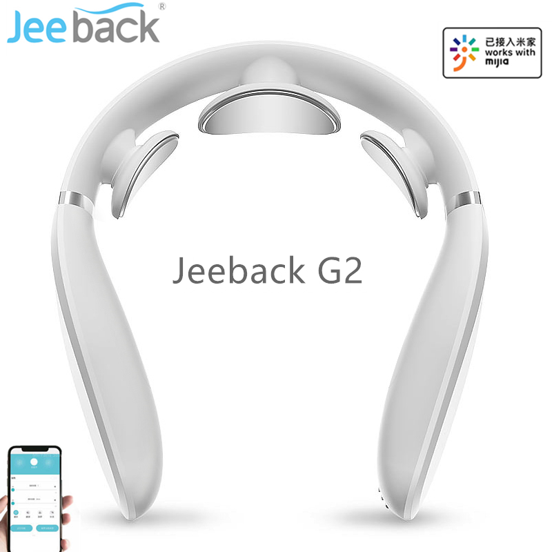 Jeeback Cervical Massager G2 TENS Pulse Back Neck Massager Far Infrared Heating Health Care Relax Work With Mijia App