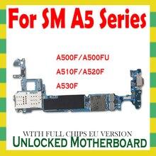 لسامسونج غالاكسي A5 A510F A520F A530F اللوحة الرئيسية الأصلي مقفلة مع أندرويد رقائق كاملة فتح المنطق مجلس OS