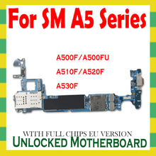 For Samsung Galaxy A5 A510F A520F A530F Motherboard Original Mainboard Unlocked with Android Full Chips Unlock Logic Board OS