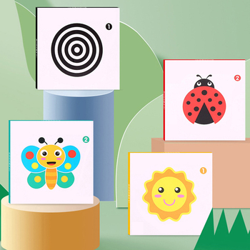 Montessori Baby Toys Black White Flash Cards High Contrast Visual Stimulation Learning Activity Flashcards Baby Gifts high quality black white flash cards early education card high contrast concentration training flash card for babies 0 6 months