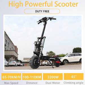 11inch 60V 3200W Adult Electric Scooter with Sest 110-110KM Strong powerful 70km/h Foldable Off Road Patinete Electrico Adulto