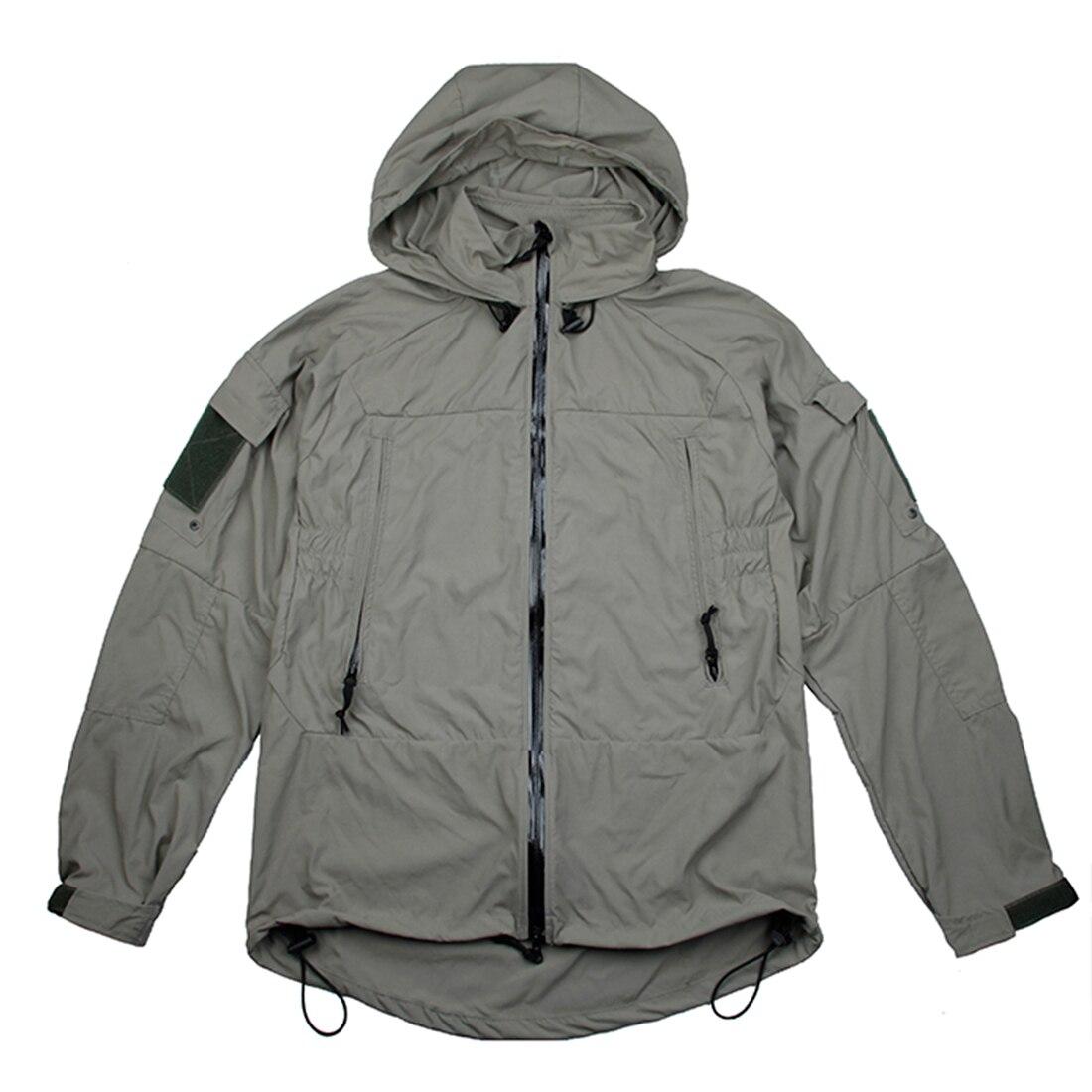 TMC Tactical Cordura Nylon Soft Shell Zipper Coat PCU L5 Wind Coat Jacket - Dark Grey S/M