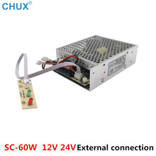 цена на CHUX UPS Charge Switching Power Supply 12V 24V 60W 13.8v battery charger universal SC60W AC DC SMPS Power Supplies