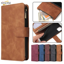 kisscase luxury business flip case for samsung galaxy s10 back cover leather case for samsung a50 note8 s7 note10 s8 s9 s8 plus KISSCASE Zippered Wallet Flip Cover For Samsung A50 Case A70 A20 A30 A10 S8 S9 S10 For Samsung Note10 Plus Cover Card Slot Funda