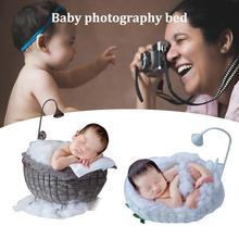 Детская кроватка Съемная корзинка деревянная кровать аксессуары для фотосессии младенец Фотография реквизит для студии, фон подарок Диван позирует новорожденного
