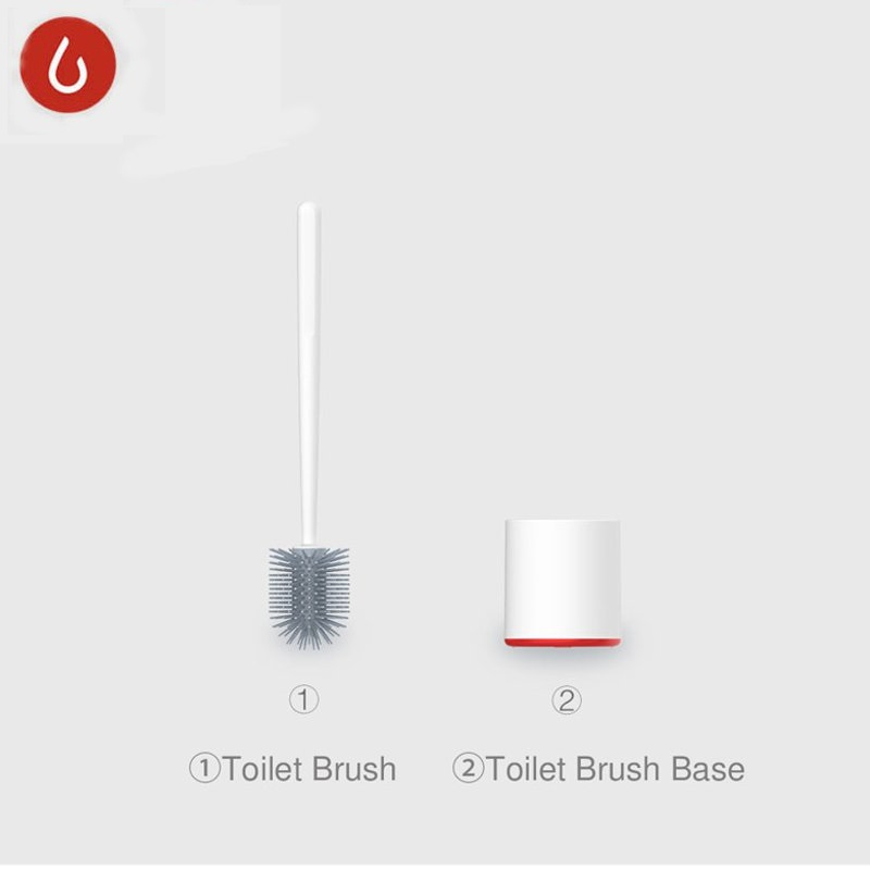YIJIE 2Pcs/set TPR Toilet Brushes And Holder Cleaner Set Silica Gel Floor-standing For Bathroom Toilet Cleaning Tool