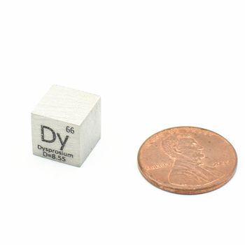 цена на Dysprosium Dy Metal Cube Rare Earth Metals Elemental High Purity Periodic Table of Element 10x10x10mm Collection Display Density