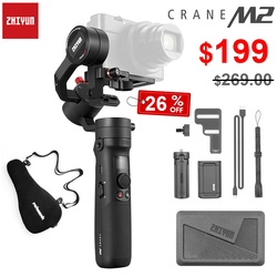 Zhiyun Crane M2 3-Axis Handheld Gimbals for Smartphones Mirrorless Camera Action Compact Cameras Stabilizer PK Feiyutech G6 Plus