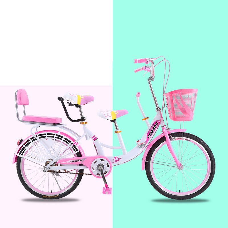 Parent-child Bicycle Light Double Ride Mother-child Three-person Recreation With Children Baby Play Sightseeing Bicycle