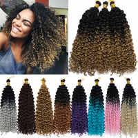 S-noilite 14 pouces Ombre vague d'eau Crochet cheveux tressage synthétique faisceaux de cheveux pour les femmes