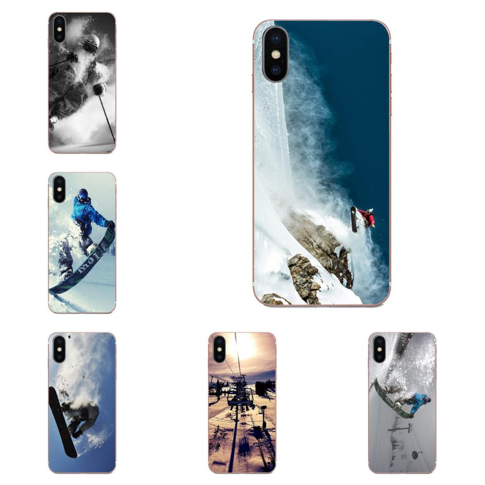 Soft Print Case For Samsung Galaxy Note 5 8 9 S3 S4 S5 S6 S7 S8 S9 S10 5G mini Edge Plus Lite Snow Or Die Ski Snowboard Sport
