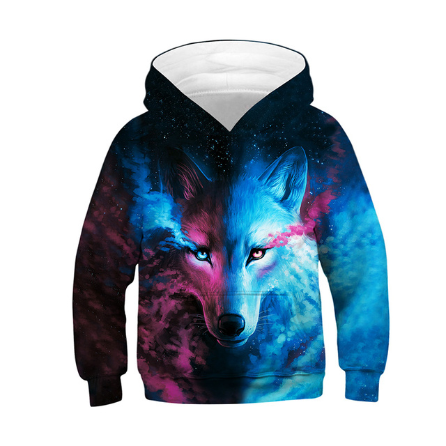 Wolf 3D Kids Hoodies Children's Sweatshirt 1