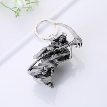 Top fashion archer skeleton keychains accessories Rubber skeleton key chains bag pendant decoration key rings image