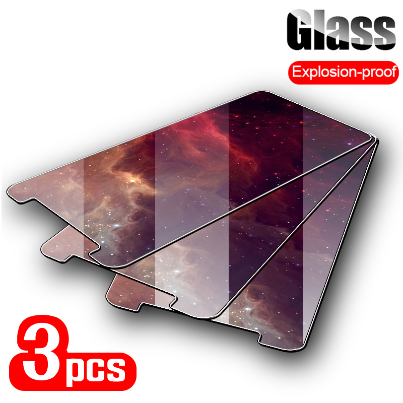 3PCS Tempered Glass For Moto E6 Play P50 P40 Glass Screen Protector Protective Film For Moto E4 E5 Z2 Play E6 Plus Glass Film image