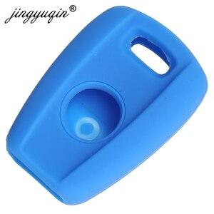 Image 3 - Jingyuqin 자동차 스타일링 원격 키 케이스 1 버튼 피아트 Punto Doblo 브라보 트랜스 폰더 실리콘 자동 키 커버 Protetor 홀더