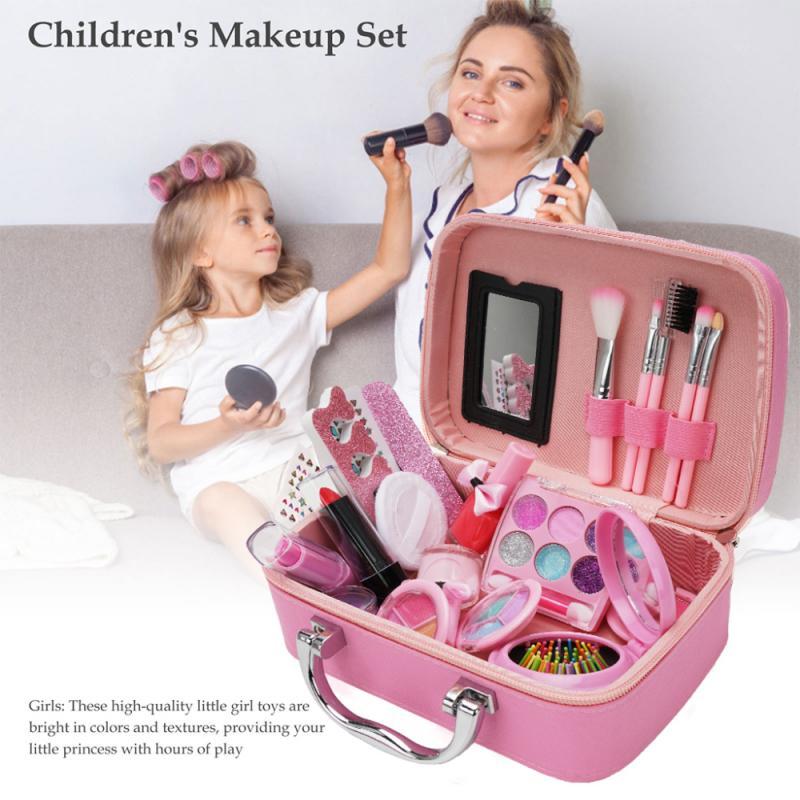Play House Set Washable Cosmetics Make Up Toys Kids Makeup Set Toys Beauty Mini Box Washable Real Children's Cosmetics Box