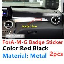 Автомобильные аксессуары для интерьера, металлическая наклейка с логотипом консоли для AMG W203 W204 205 W211 W212 W213 W76 W177 GLA CLA CLS, эмблема, значок, 2 шт.