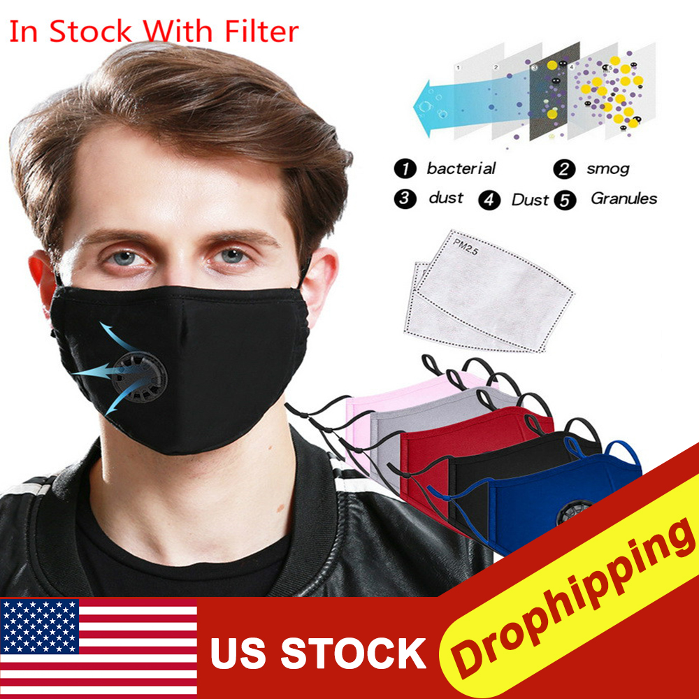 Anti-fog Mask PM2.5 Anti-Dust Washable Anti Haze Mask With Filter Pad Activated Carbon Filter Respirator Mouth-muffle For Travel