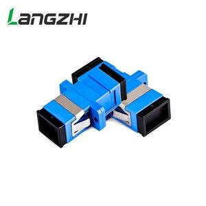 Image 4 - 500 Pcs Nieuwe Glasvezel Connector Adapter SC/UPC SM Flens Singlemode Simplex SC SC Coupler Gratis Verzending Groothandel LSZH