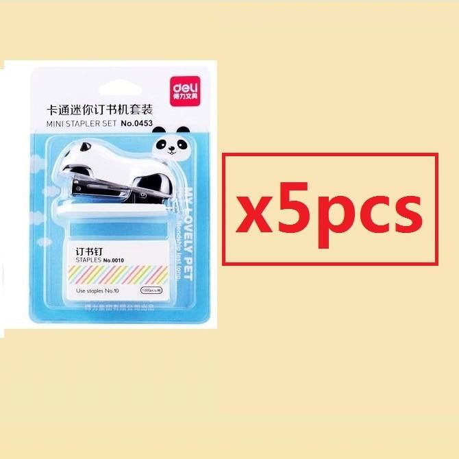 [4Y4A] супер восхитительный мини-степлер в форме панды из мультфильма - Цвет: 5pcs
