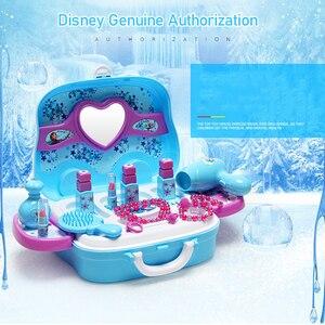 Image 2 - Disney, brinquedos para meninas, princesa, frozen, vestidos, maquiagem, conjunto, brinquedos infantis brinquedos, brinquedos