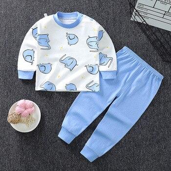 0-24M Baby Clothing Sets Autumn Baby boys Clothes Infant Cotton Girls Clothes 2pcs newborn baby Underwear Kids Clothes Set - K, 3M