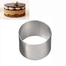 Moule à gâteau Mousse Mini rond, anneau de pâtisserie en acier inoxydable de qualité alimentaire pour la cuisson, décor de gâteau, 1 pièce, # Y10