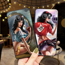 Sexy cartoon cat girl Halloween For Samsung NOTE 8 9 M10 M20 M30 S6 S7 Edge S8 S9 S10 PLUS TPU Soft Phone Back Cover Case Shell(China)