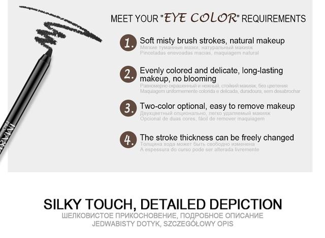 Imagic Brand 1pcs Black Waterproof Eyeliner Pen Pencil Makeup Beauty Cosmetic Tool+1pcs Pencil sharpener 2