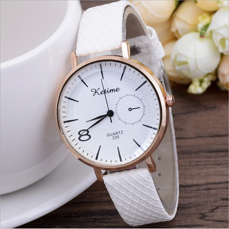 Milan Watches Women's Fashion Ore Glass Dial Casual Woman Wrist Watch Leather Buckle Dress Clock Quartz Watch Relojes De Mujer