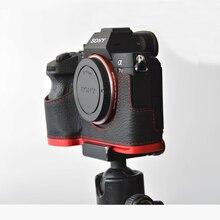 소니 a7r에 대 한 정품 가죽 케이스 카메라 가방 셸 커버 markiii a7m3 a7riii a9 손 그립 홀더 알루미늄 빠른 릴리스 l plat