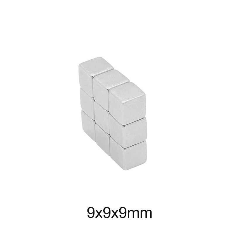 5 ~ 100 Uds. Imán de neodimio 9*9*9 imanes magnéticos de boro de hierro cuadrados grandes 9X9X9mm 9mm x 9mm