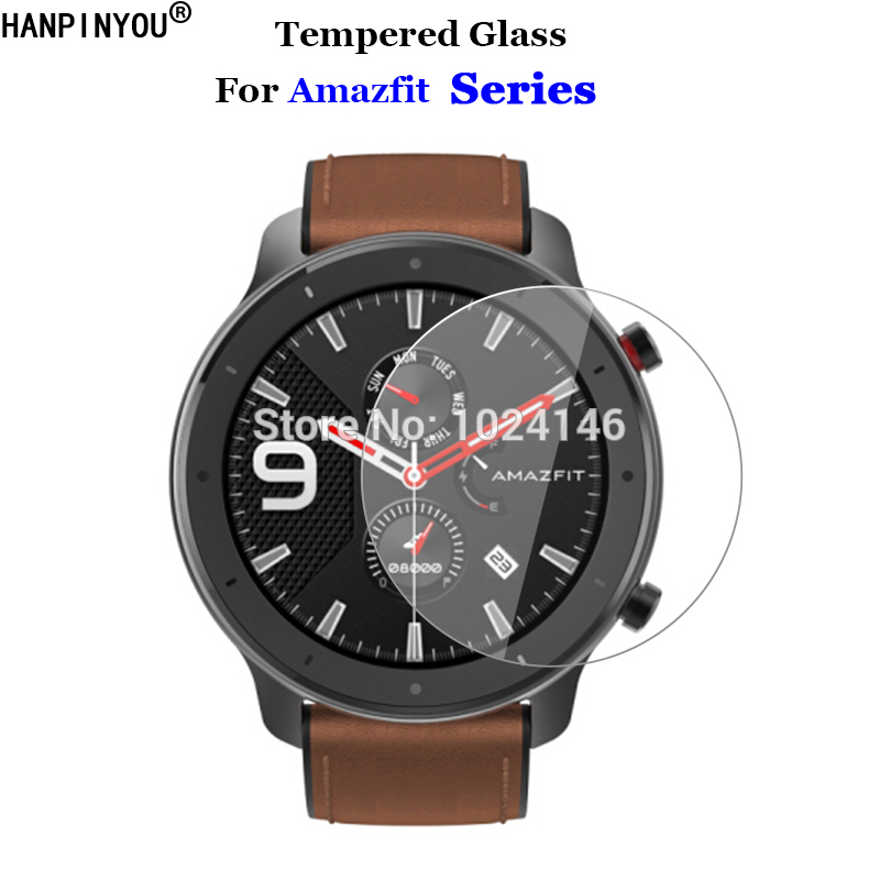 For Xiaomi Huami Amazfit GTR 42mm 47mm Stratos 3 Pace Verge Lite Sports Smart Watch Tempered Glass 9H 2.5D Screen Protector Film