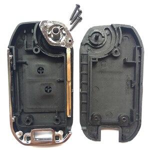 Image 3 - 2 taste Für Peugeot 307 206 207 Für Citroen C2 Geändert Remote Key Shell Fob Flip Folding Auto Schlüssel Fall abdeckung Mit Uncut klinge