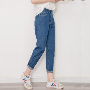 Image 5 - Kot Kadınlar Yaz Yüksek Bel Düz Ince Kore Tarzı Bayan Streetwear Kadın Fermuarlı Cepler Basit Tüm Maç Şık Pantolon