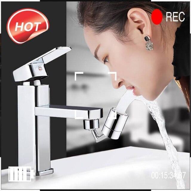 720°Universal Splash Filter Faucet Spray Head Anti Splash Filter Faucet Children Movable Kitchen Tap Water Saving Nozzle Sprayer 3