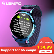 LEMFO Smart Watch ELF1 Full Touch Round Screen Heart Rate Blood Pressure Monitor Waterproof Smart Watches Men Women for Android(China)
