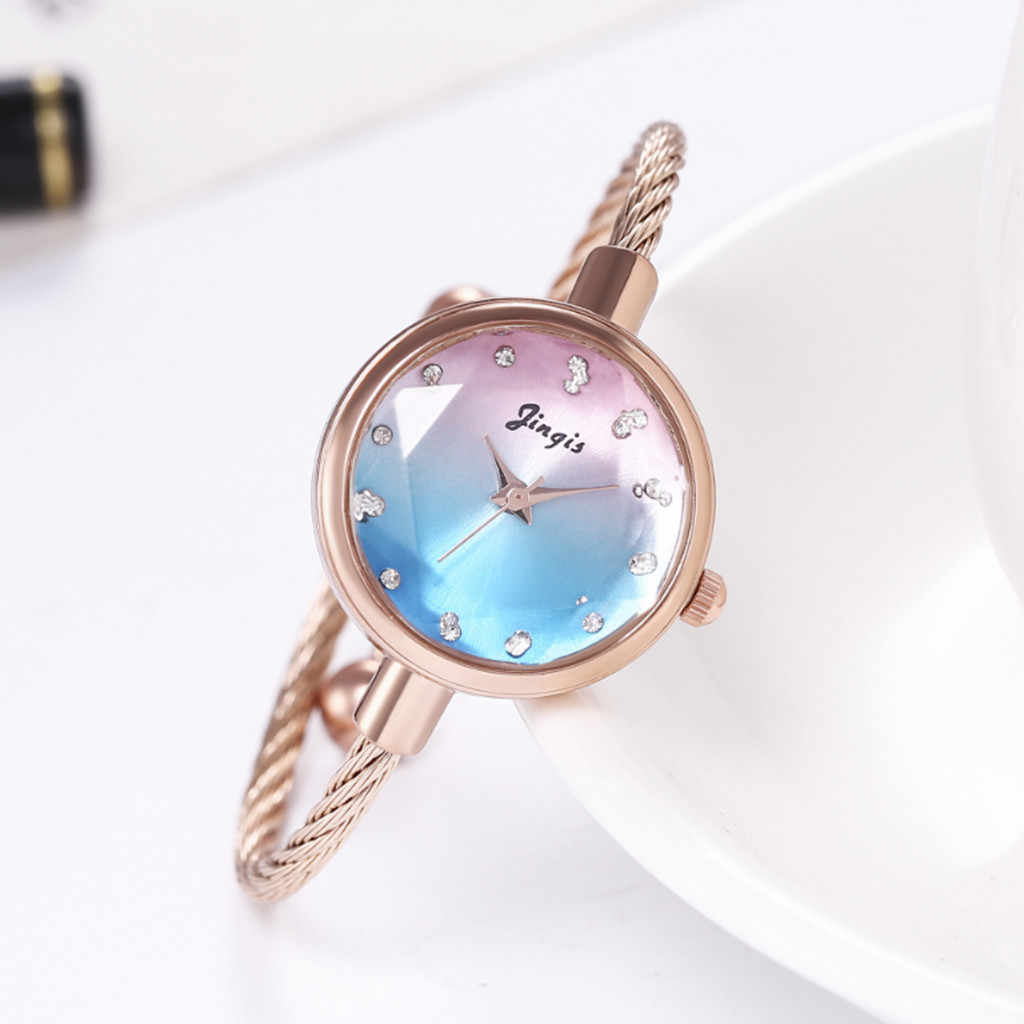 Retro Simple silver women watches elegant small bracelet female clock 2020 Stainless Steel Fashion Chic Wristwatches Gold Silver