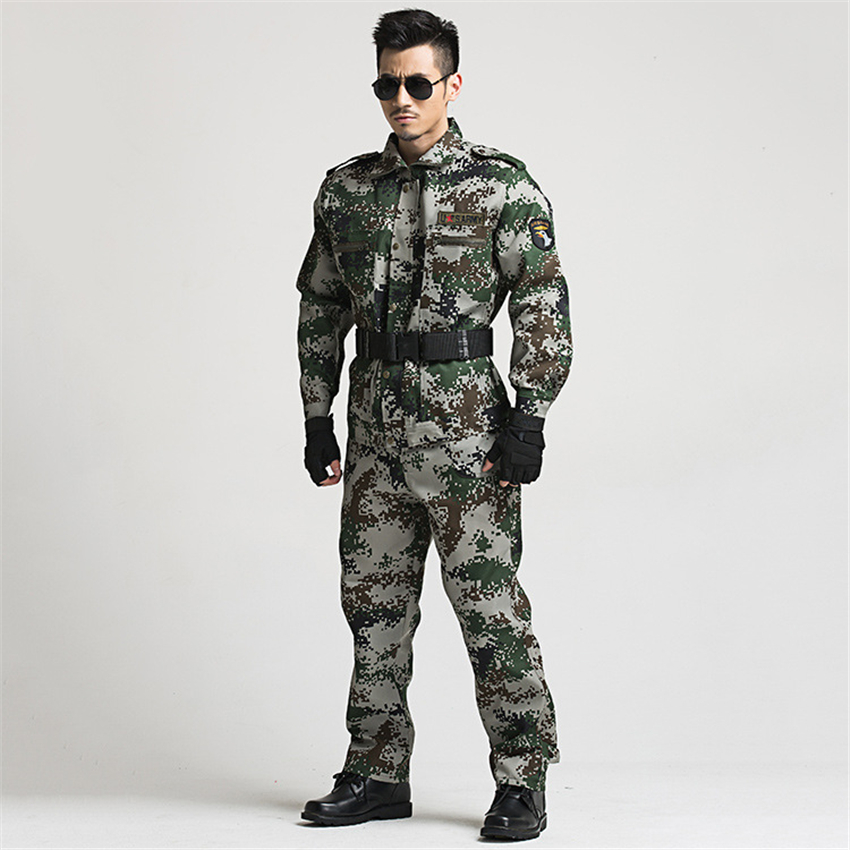 Military Uniform Tactical Camouflage Combat Clothing Men Army Special Forces Soldier Training Work Wear Adult Clothes Pant Set 5