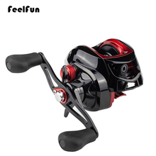 Feelfun 17+1BB High Speed Black Baitcasting Fishing Reel Affordable Fishing Baitcasting Reel Left Hand / Right Hand 4.5KG Drag kastking assassin 7 5kg drag carbon baitcasting reel right left hand carp fishing reel high speed 6 3 1 lure reel