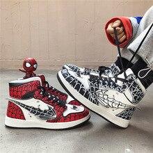 Аниме супергерой паук-человек Косплей Реквизит Человек-паук Гвен Стейси парусиновая обувь подростковые кроссовки для школы Спортивная Уличная обувь