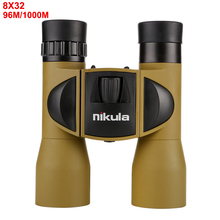 Powerful 8X32 High-Definition Portable Binoculars Low Light Level Night Vision High Quality Pocket Telescope Mountaineering View camping vocal concert must have high definition pocket central focus right eye compensation adjustment night vision binoculars
