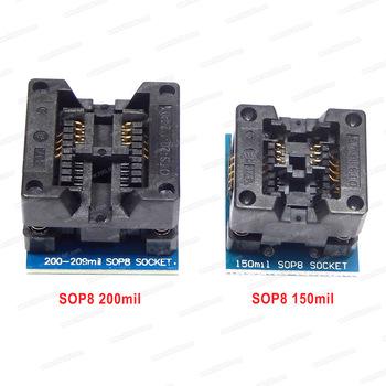 SOP8 do DIP8 szerokie siedzenie szerokie 150mil + 200-209mil programator Adapter SOP8-DIP8 gniazdo adaptera dla EZP2019 tanie i dobre opinie SOP8 Socket SOP8 Adapter Socket 209mil SOP8 adapter SOP8 200mil Adapter SOP8 to DIP8 Adapter SOP8 DIP8 Socket