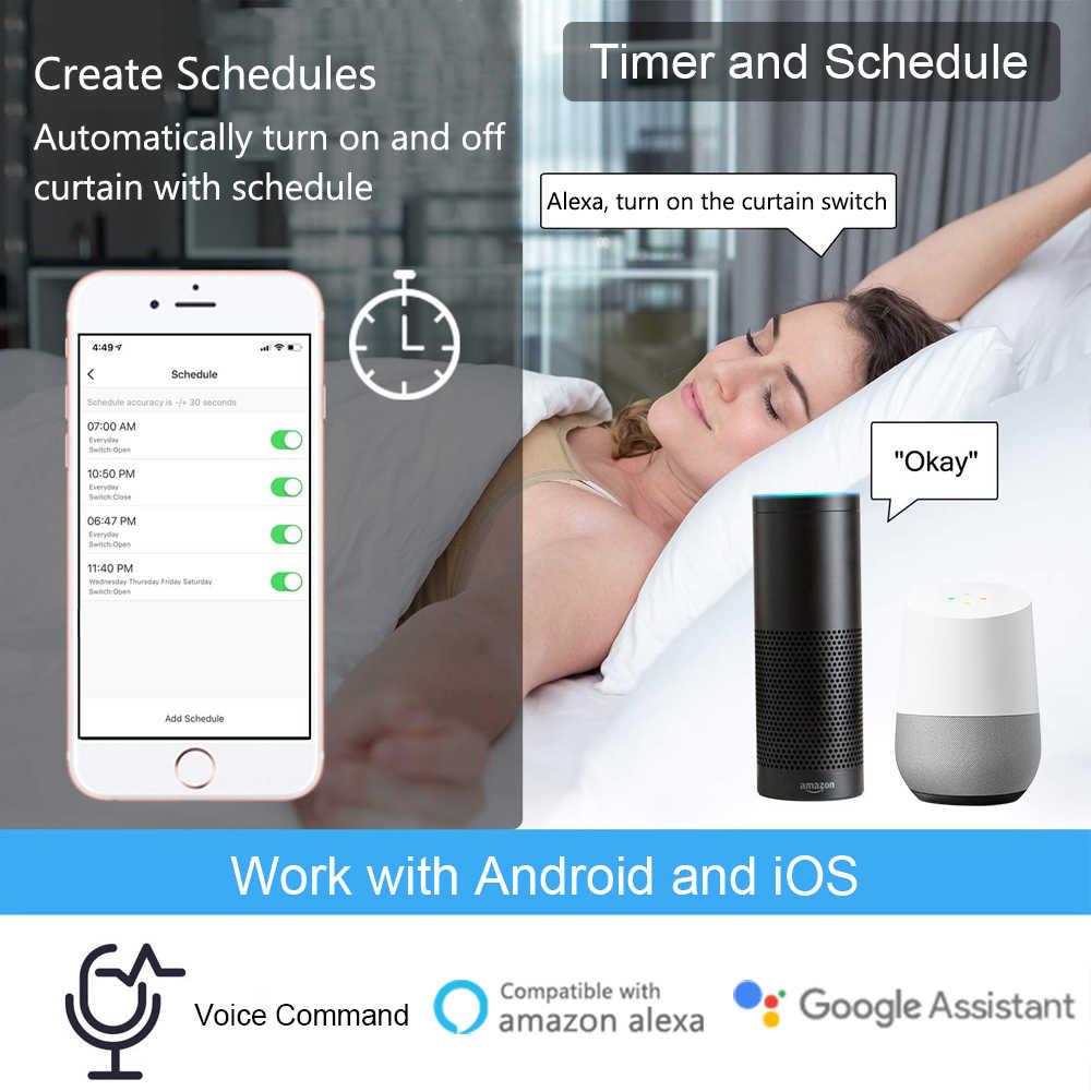 Tuya Smart Life WiFi штора, выключатель для жалюзи, электрический двигатель Google Home Alexa, голосовое управление, DIY умный дом